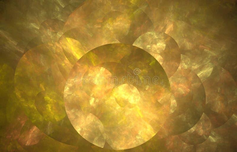 Textura abstrata do fractal com círculo Textura do fractal da fantasia Twirl vermelho de Digitas art rendição 3d Imagem gerada po ilustração do vetor