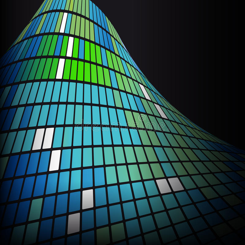 Textura abstrata do fundo do verde azul ilustração royalty free