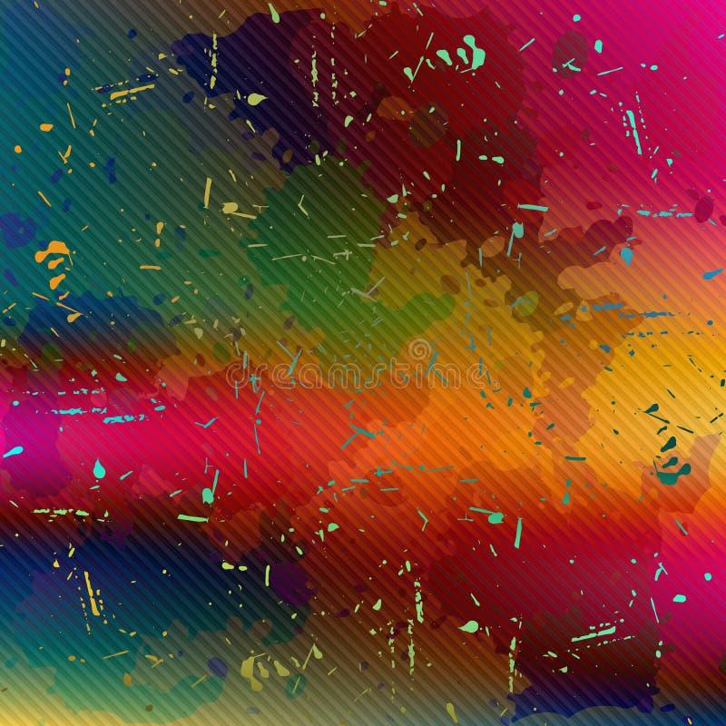 Textura abstrata psicadélico brilhante do fundo do grunge para sua ilustração do vetor da qualidade do projeto ilustração do vetor