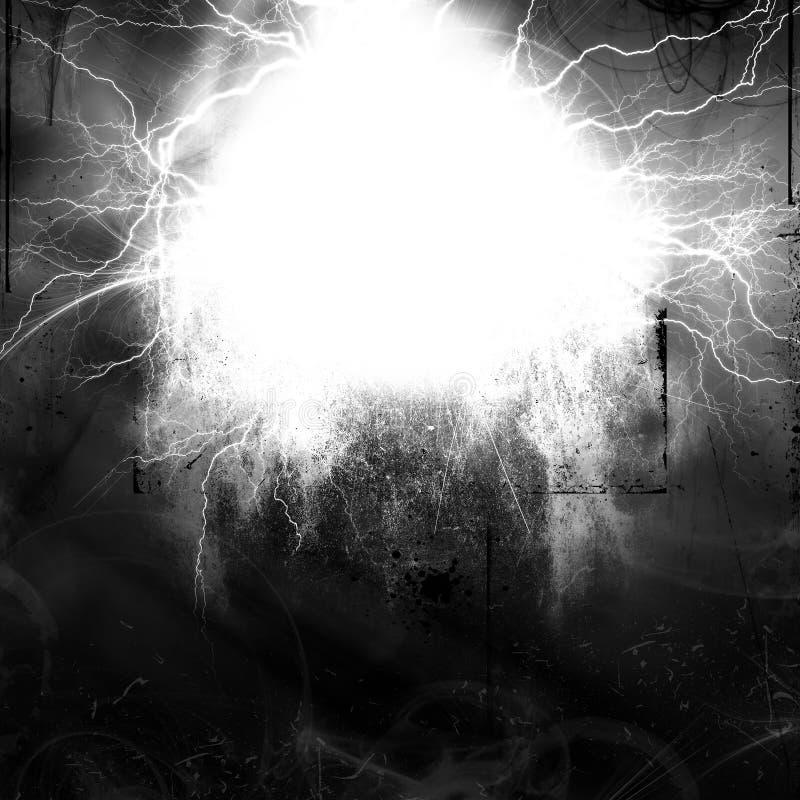 Textura abstrata, quadro místico do relâmpago do grunge ilustração royalty free