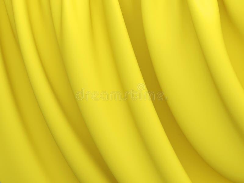 Textura abstrata Seda amarela ilustração stock