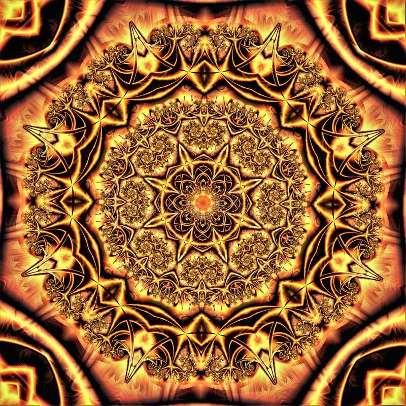 Textura abstrata sob a forma de uma mandala com um ornamento complexo feito sob a árvore ilustração royalty free