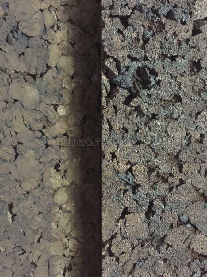 Textura acústica del corcho natural con la sombra fotos de archivo libres de regalías