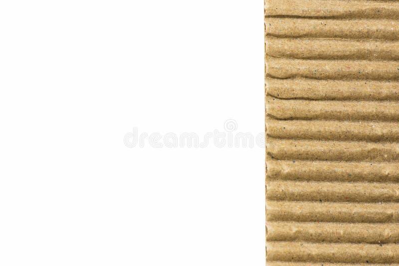 Textura acanalada de la flauta del tablero de papel de Brown foto de archivo libre de regalías