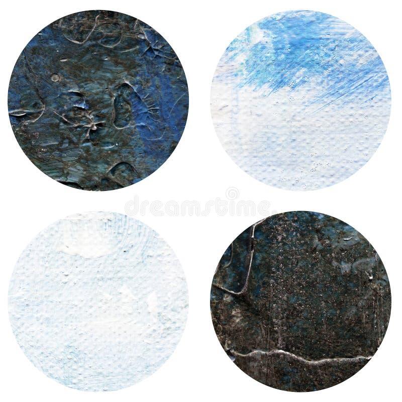 Textura acrílica pintado à mão abstrata dos círculos na cor branca e preta foto de stock royalty free