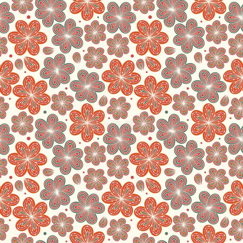 Textura adornada sin fin del modelo del fondo agradable decorativo inconsútil ornamental floral de las flores stock de ilustración