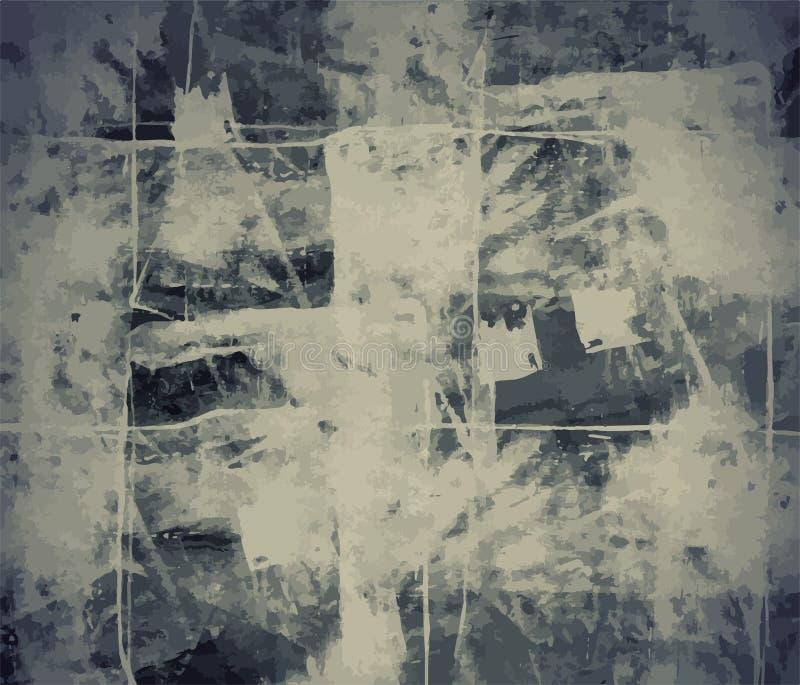Textura afligida retro de Art Style Editable Vintage Style do fundo do vetor do Grunge Grande contexto do elemento do projeto par ilustração royalty free