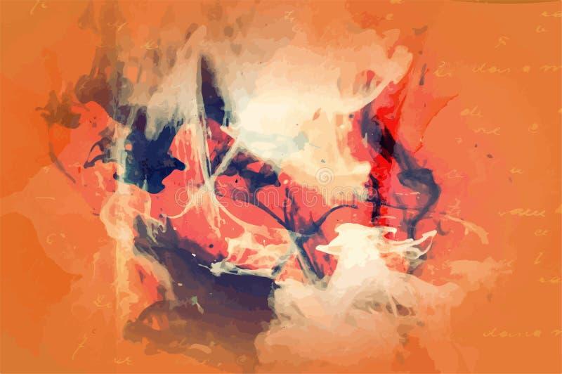 Textura afligida retro de Art Style Editable Vintage Style do fundo do vetor do Grunge Grande contexto do elemento do projeto par ilustração stock