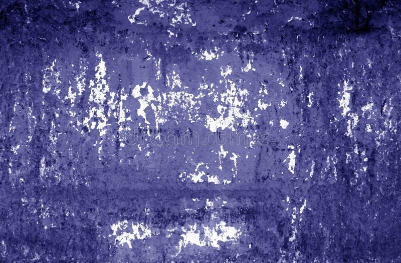 Textura aherrumbrada sucia de la pared del metal en tono azul imágenes de archivo libres de regalías