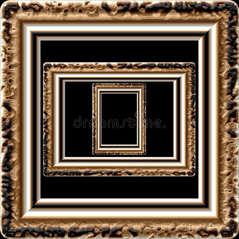 Textura aislada generada de mármol del marco stock de ilustración