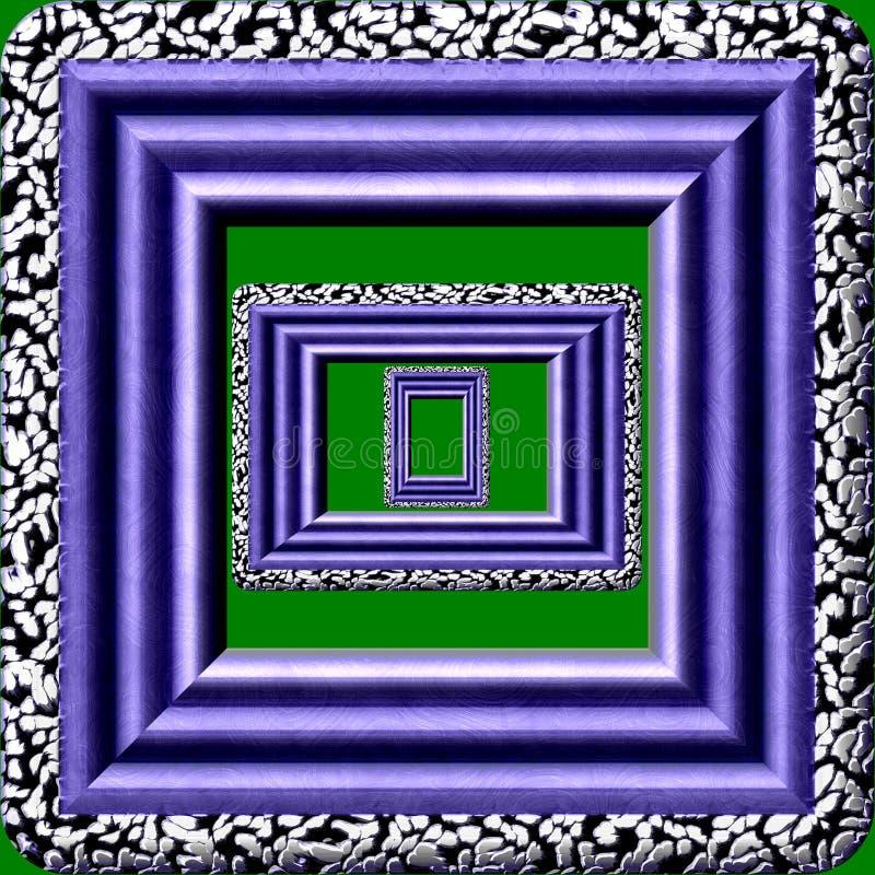 Textura aislada generada de mármol del marco ilustración del vector