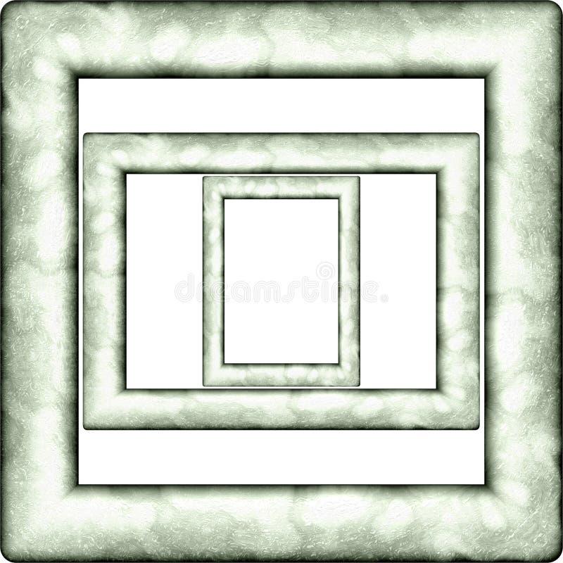 Textura aislada generada plástica del marco libre illustration