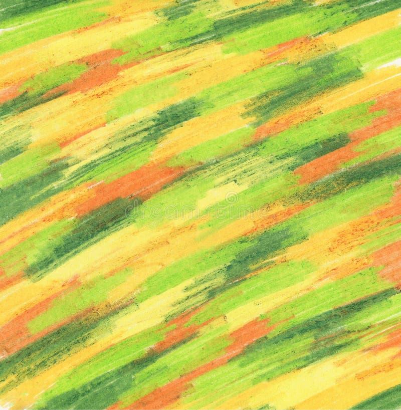 Textura alaranjada acr?lica do respingo com verde fotografia de stock royalty free