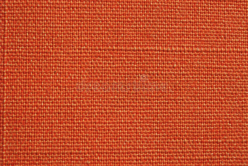 Textura alaranjada da tela imagem de stock