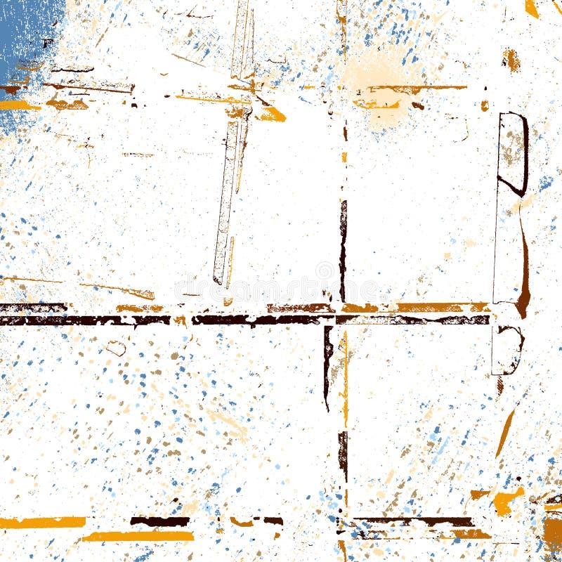 Textura aleatória amarela ilustração do vetor