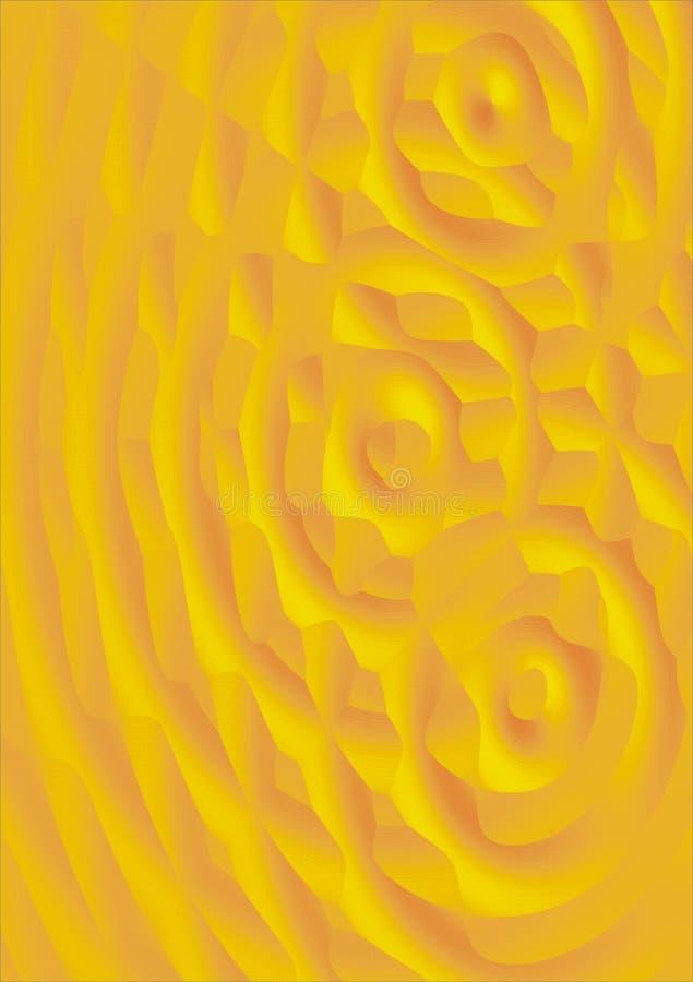Textura amarela ilustração do vetor