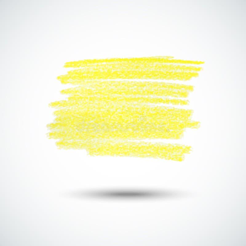 Textura amarela do giz ilustração royalty free
