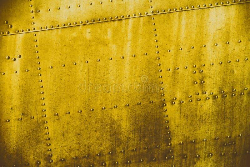 Textura amarela do metal da sujeira do grunge fotos de stock royalty free