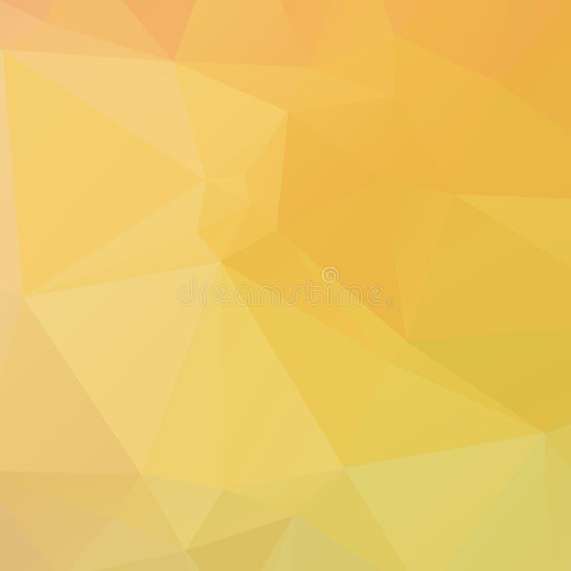 Textura amarilla abstracta del polígono libre illustration