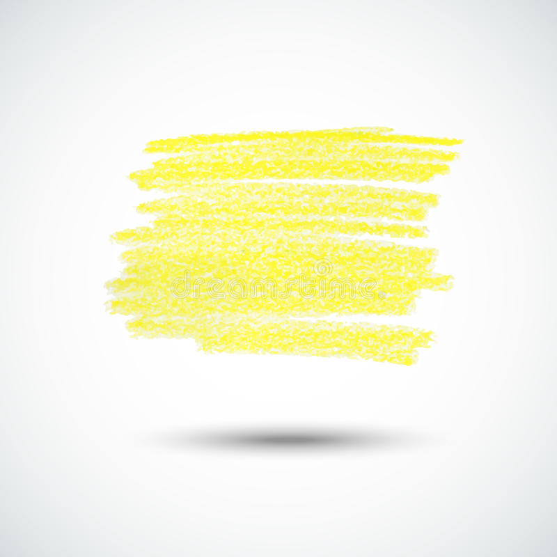 Textura amarilla de la tiza libre illustration