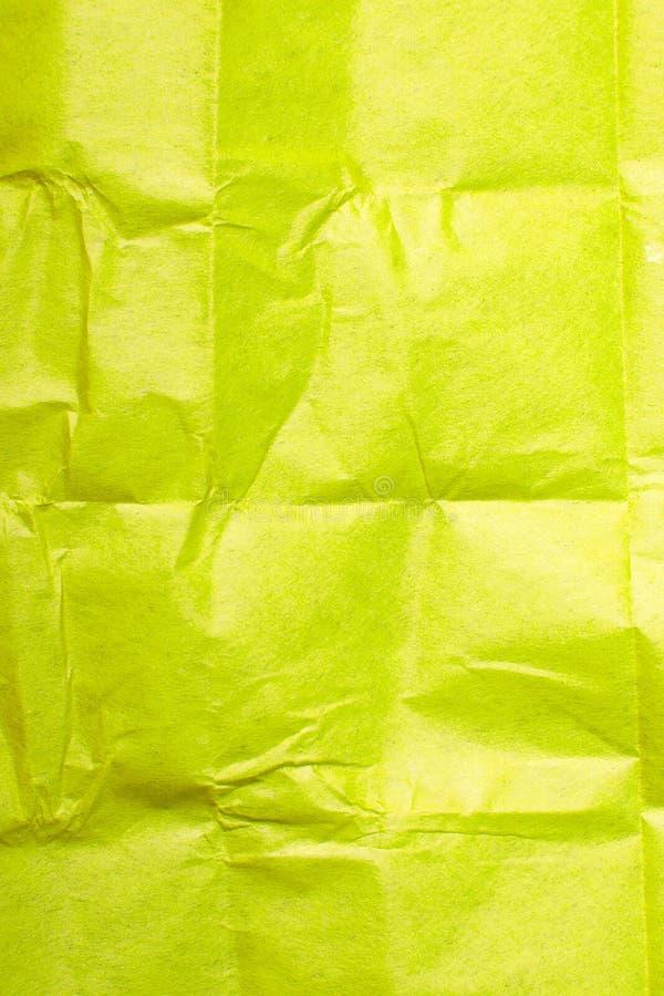 Textura amarilla del papel seda fotos de archivo