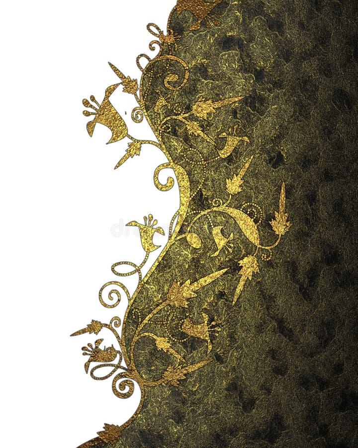 Textura amarilla oscura con el modelo del oro Elemento para el diseño Plantilla para el diseño libre illustration