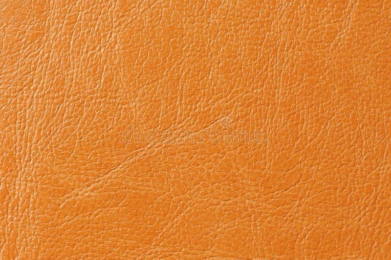 Textura anaranjada del fondo de la imitación de cuero fotografía de archivo