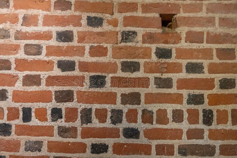 Textura antiga do fundo da parede de tijolo fotos de stock