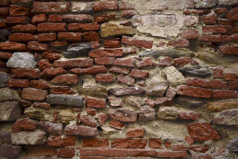 Textura antigua de la pared de los ladrillos de la arcilla imágenes de archivo libres de regalías