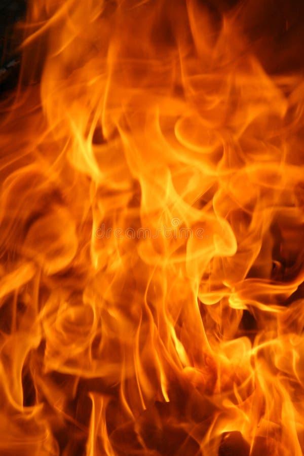 Textura ardiente de las llamas fotografía de archivo libre de regalías