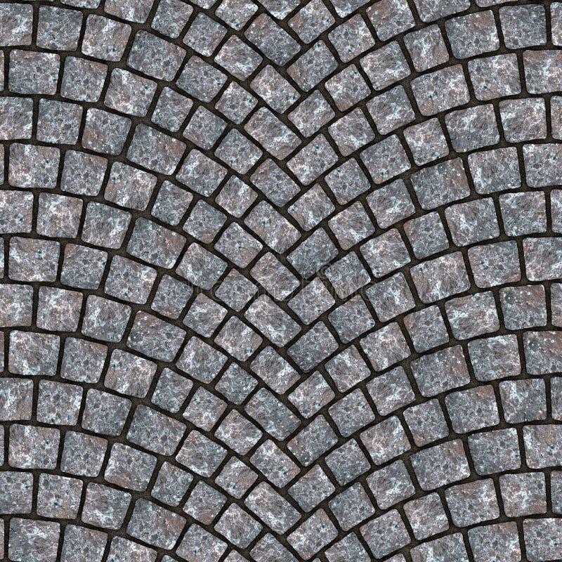 Textura arqueada 006 del pavimento del guijarro stock de ilustración