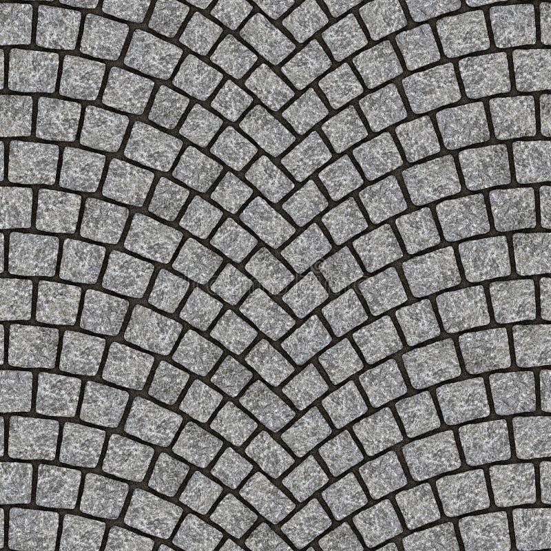 Textura arqueada 012 del pavimento del guijarro stock de ilustración