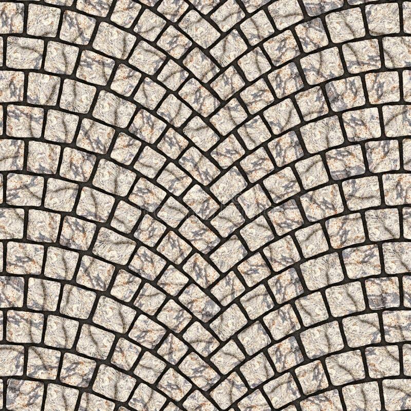 Textura arqueada 019 del pavimento del guijarro libre illustration