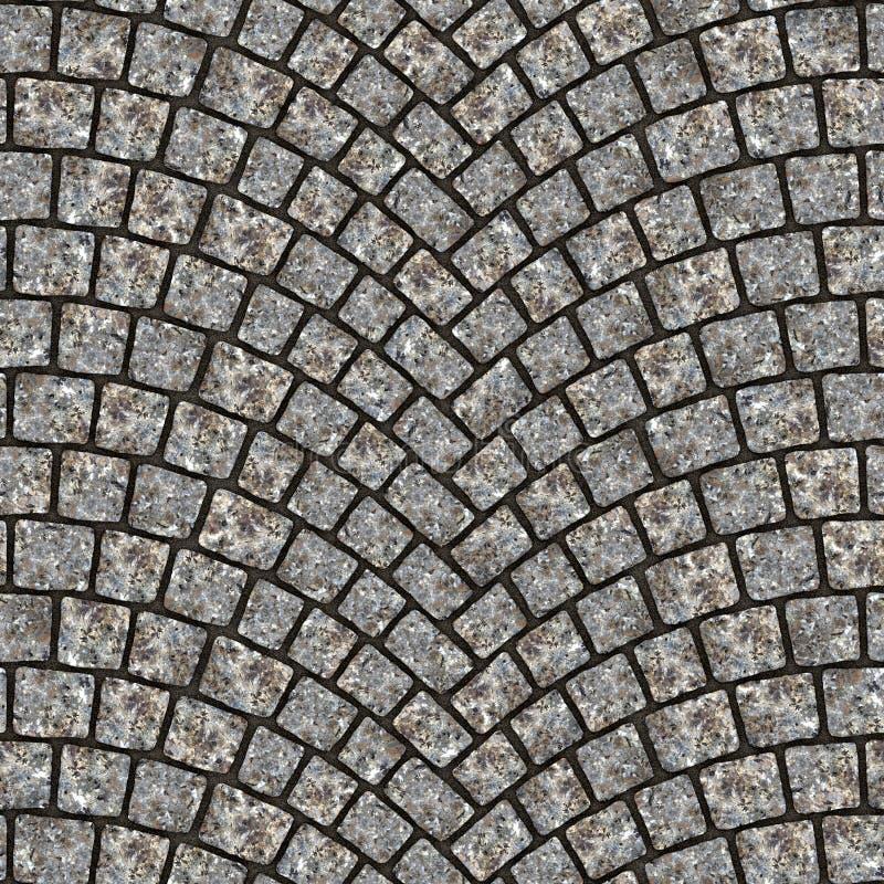 Textura arqueada 030 del pavimento del guijarro stock de ilustración