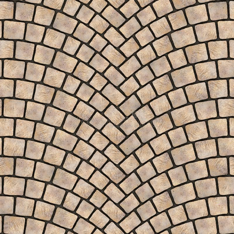 Textura arqueada 069 del pavimento del guijarro stock de ilustración