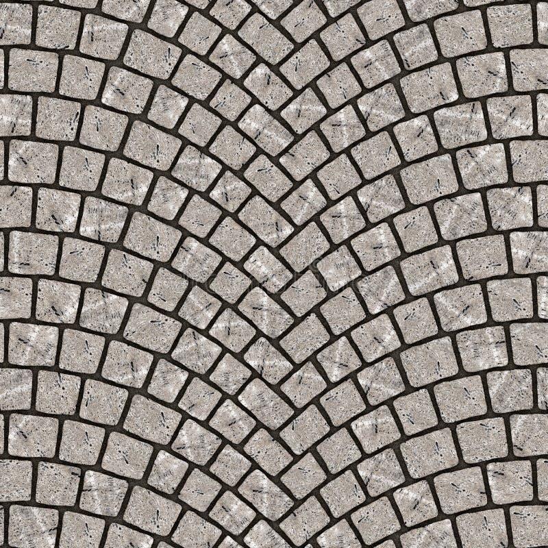Textura arqueada 075 del pavimento del guijarro libre illustration