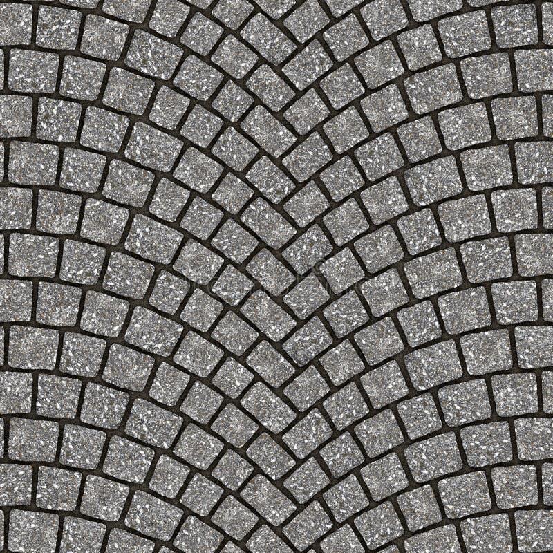 Textura arqueada 081 del pavimento del guijarro ilustración del vector