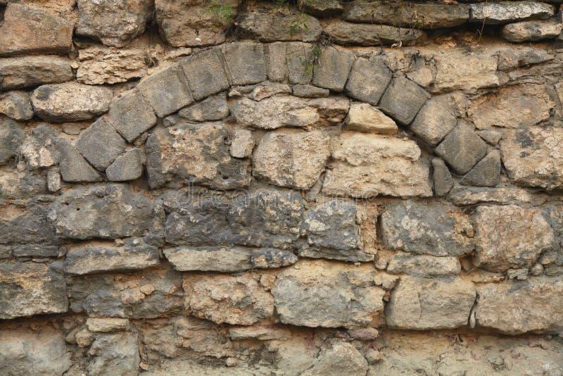 Textura arquitetónica do fundo da parede de tijolo (Jerusalém, Israel) imagem de stock royalty free