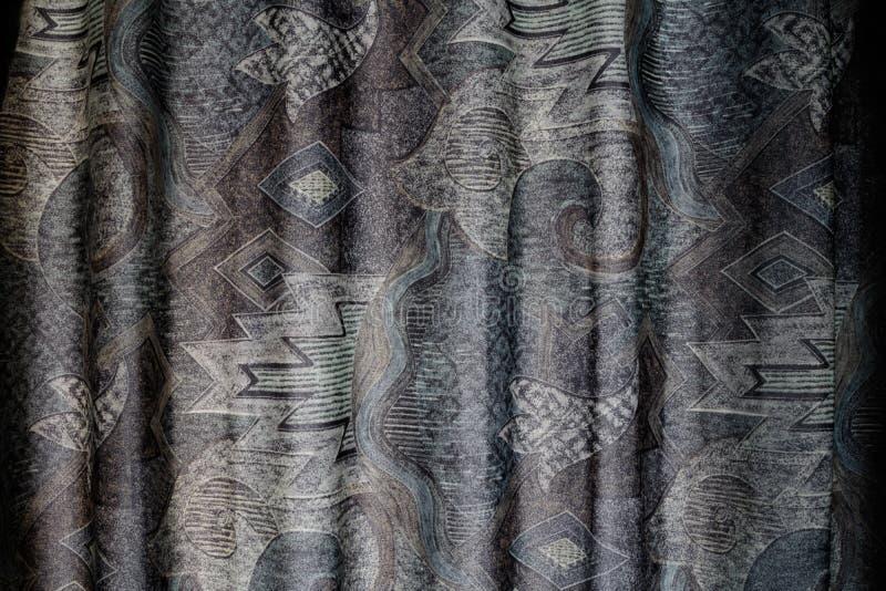 Textura arrugada modelada de la superficie de la cortina de la materia textil de la tela foto de archivo