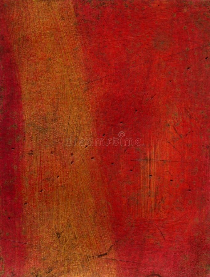 Textura artística de los media mezclados - rojo y oro imagenes de archivo