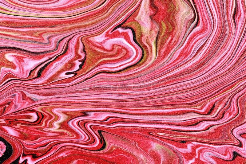 Textura artística hermosa Ondas pintadas extracto Mármol rosado fotos de archivo libres de regalías