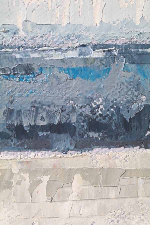 Textura ascendente cercana de la pintura al óleo con los movimientos del cepillo imagenes de archivo