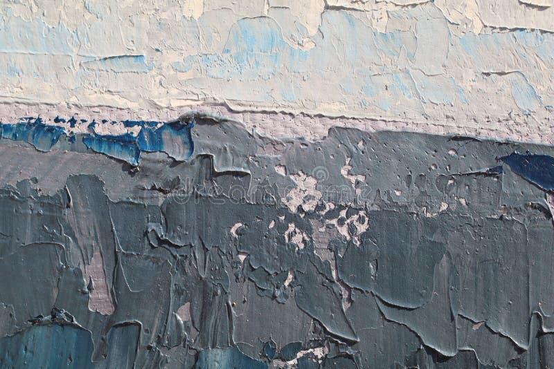 Textura ascendente cercana de la pintura al óleo con los movimientos del cepillo fotos de archivo libres de regalías