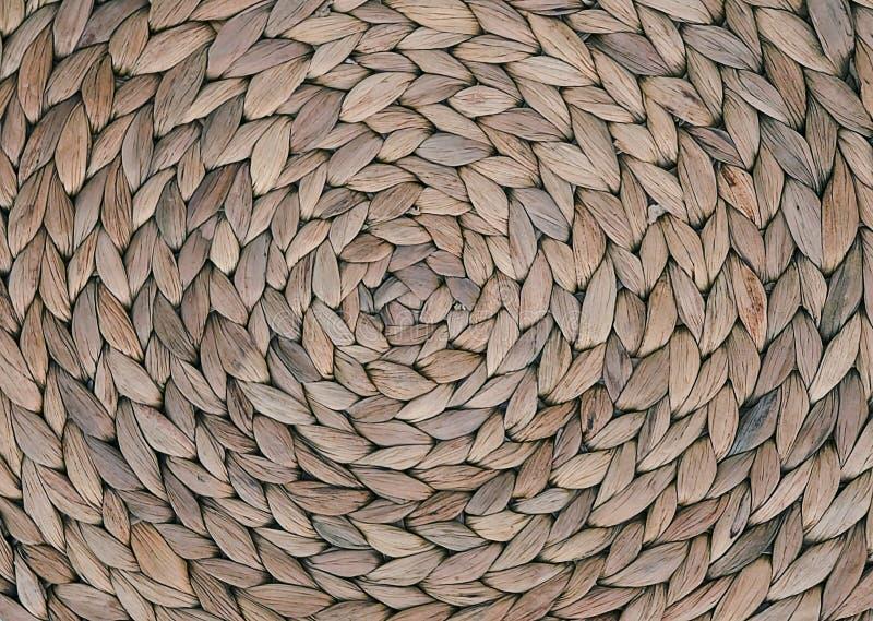 Textura ascendente fechado do teste padrão de Weave de cesta foto de stock royalty free