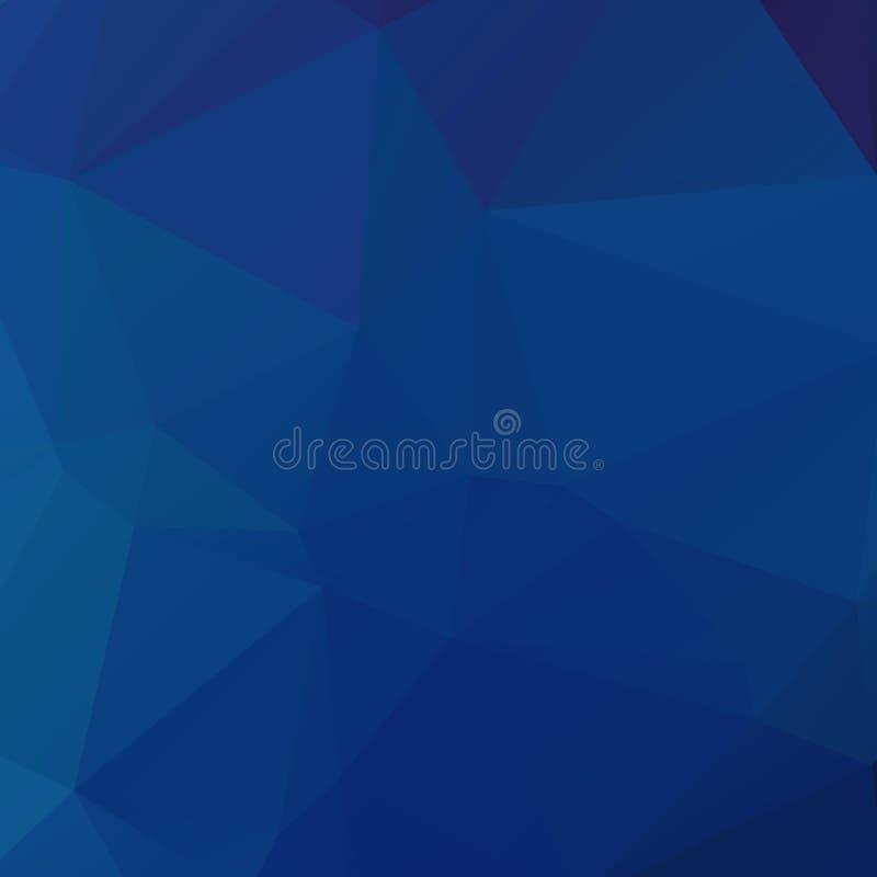 Textura azul abstracta del polígono libre illustration