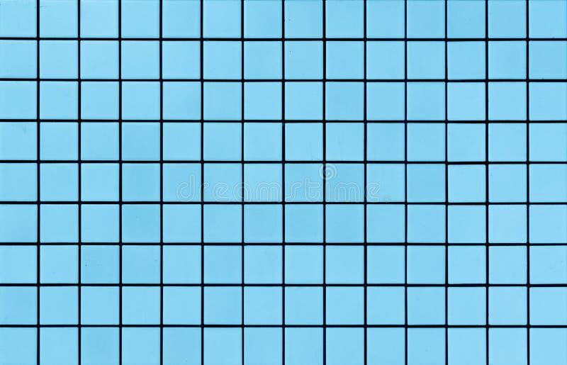 Textura azul clara de las tejas de mosaico fotografía de archivo