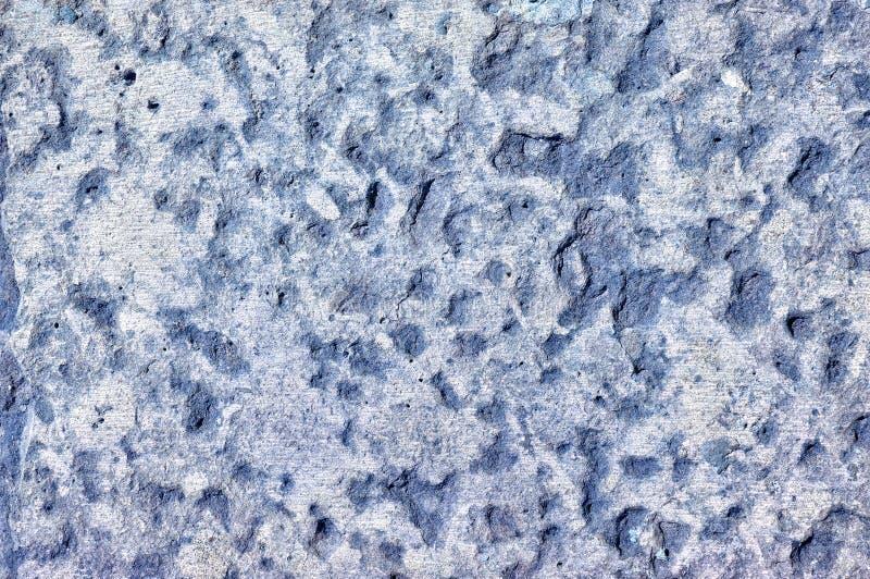 Textura azul claro de la pared de piedra con los surcos finos foto de archivo libre de regalías