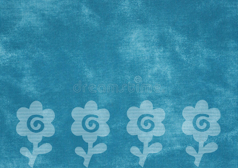 Textura da lona com flores desvanecidas ilustração royalty free