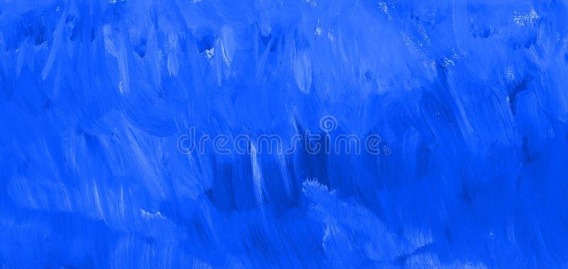 Textura azul da pintura Fundo tirado mão imagem de stock royalty free