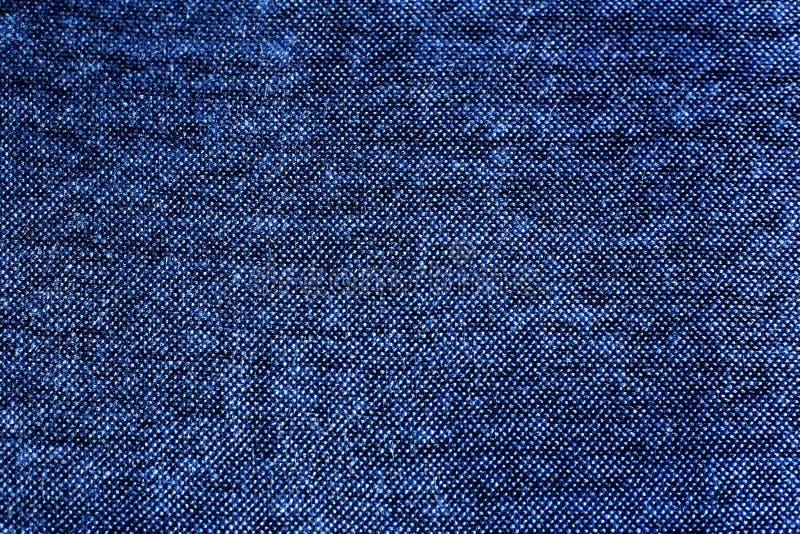 Textura azul da tela, weave da multa imagem de stock royalty free